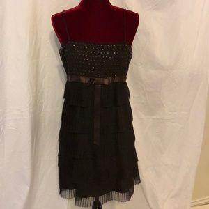 BCBG Maxazria brown mini dress